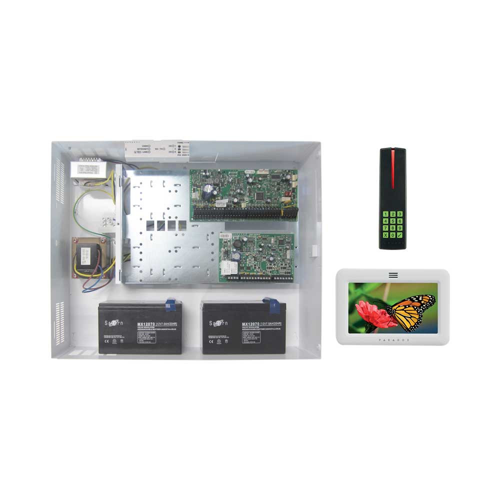 paradox evohd access kit with white tm50 posipin reader