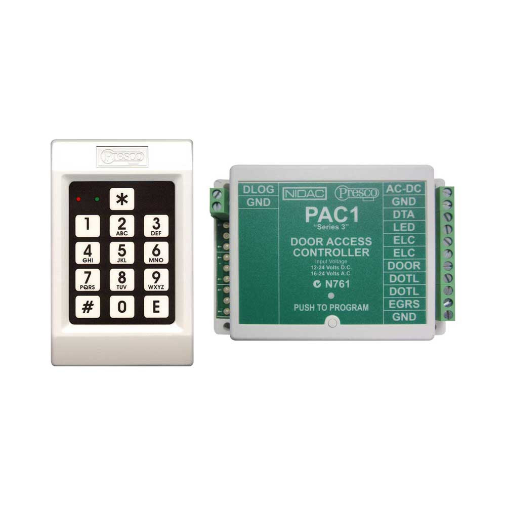 Presco Pac1 Door Controller With Pre Keypad Standalone