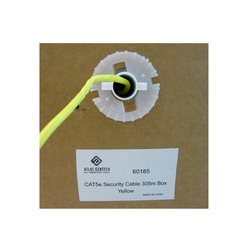 Cat5e Yellow Security Cable - 305m Box