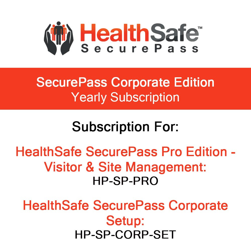 HealthSafe SecurePass Corporate Edition Yearly Subscription