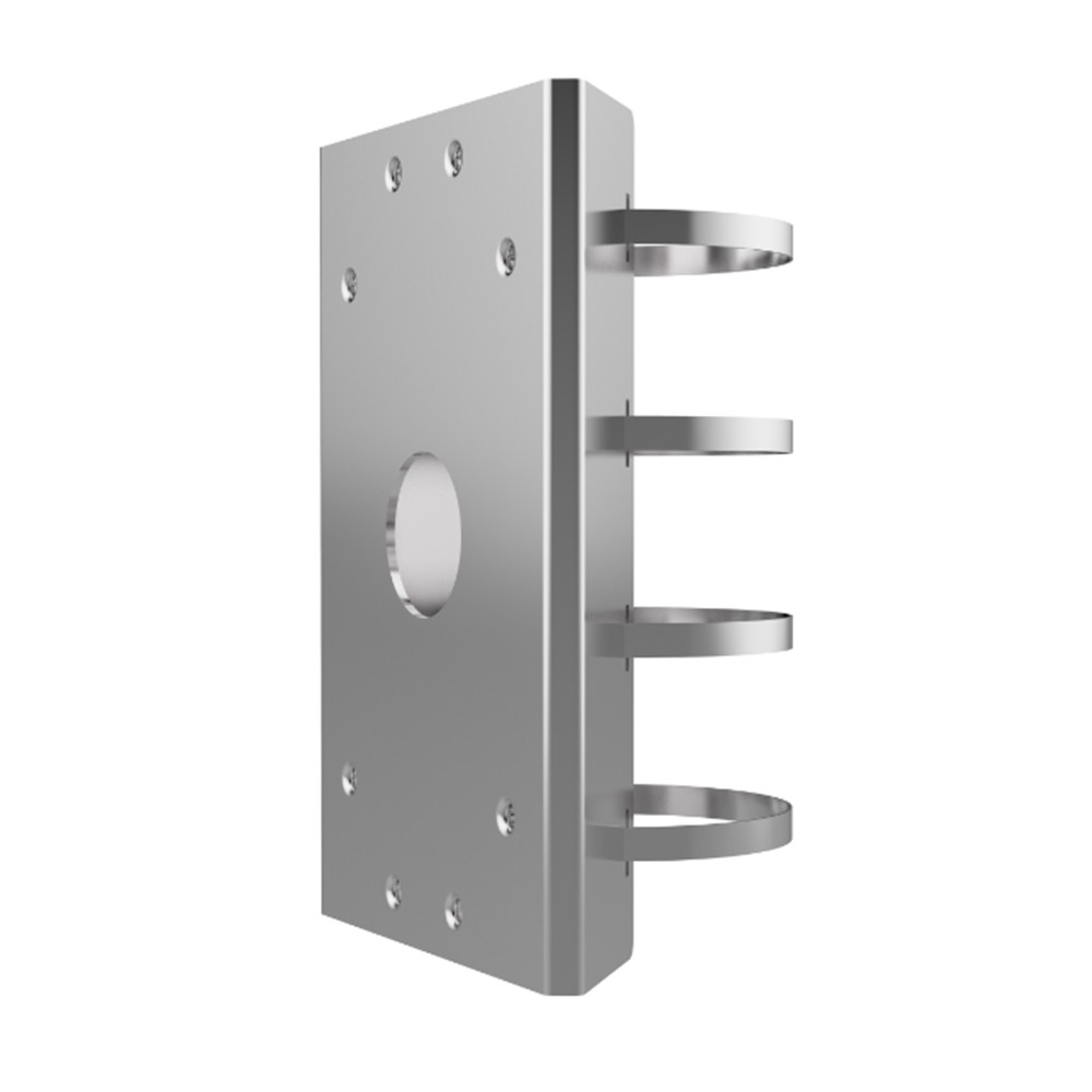 Hikvision DS-1702ZJ-SPD Polished Stainless Steel PTZ Pole Mount Bracket