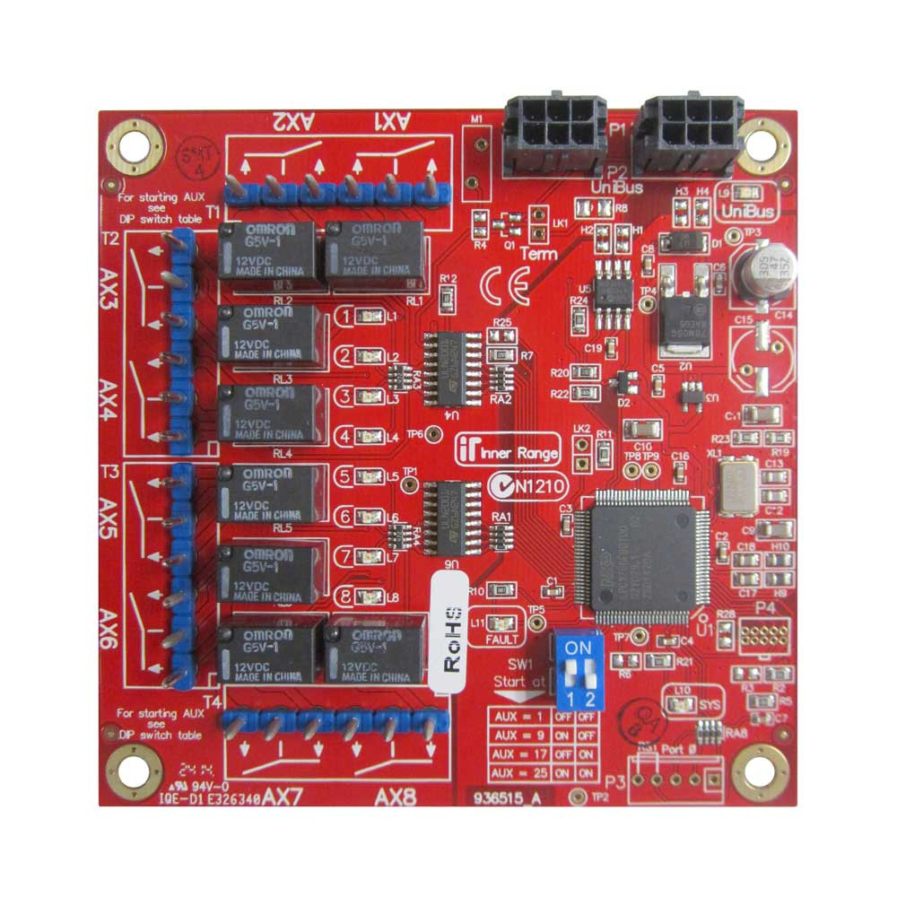 Inner Range Integriti Unibus 8 Way Aux Relay Card Smartcard Controlled Lock With