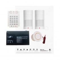 Paradox MG5050 PMD2P Kit with Small Cabinet, K10V Keypad & Plug Pack