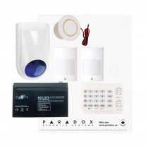 Paradox SP4000 Recession Buster Kit with Small Cabinet, K10H Keypad & WP06 External Siren
