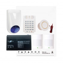 Paradox SP4000 Recession Buster Kit with Small Cabinet, K10V Keypad with WP06 External Siren