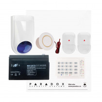 Paradox SP4000 Envy Kit with Small Cabinet, K10H Keypad & WP06 External Siren