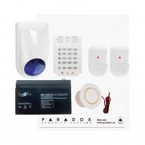 Paradox SP4000 Envy Kit with Small Cabinet, K10V Keypad, WP06 External Siren & Plug Pack