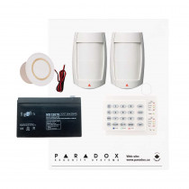 Paradox SP5500 Smart Pet Kit with Small Cabinet, K10H Keypad & Plug Pack