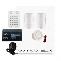 Paradox SP5500 DG Smart Kit with Small Cabinet, K10V Keypad & Plug Pack