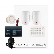 Paradox SP5500 DG Smart Kit with Small Cabinet, K10H Keypad & Plug Pack