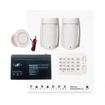 Paradox MG5050 RF DG Kit with Small Cabinet, K10H Keypad & DG75 PIRs