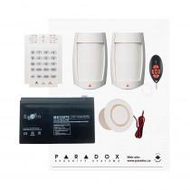 Paradox MG5050 RF DG Kit with Small Cabinet, K10V Keypad, DG75 PIRs & REM2 Remote