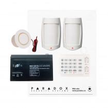 Paradox MG5050 RF DG Kit with Small Cabinet, K10H Keypad, DG75 PIRs & Plug Pack