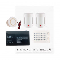 Paradox MG5050 RF DG Kit with Small Cabinet, K10H Keypad & DG55 PIRs