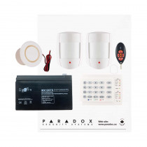 Paradox MG5050 RF DG Kit with Small Cabinet, K10H Keypad, DG55 PIRs & REM2 Remote