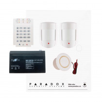 Paradox MG5050 RF DG Kit with Small Cabinet, K10V Keypad & DG55 PIRs