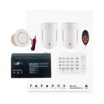 Paradox MG5050 RF DG Kit with Small Cabinet, K10V Keypad, DG55 PIRs & REM2 Remote