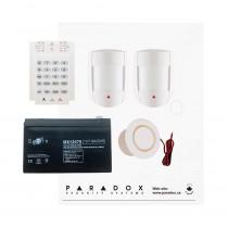 Paradox MG5050 RF DG Kit with Small Cabinet, K10V Keypad, DG55 PIRs & Plug Pack