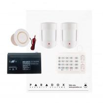 Paradox MG5050 RF DG Kit with Small Cabinet, K10H Keypad, DG55 PIRs & Plug Pack