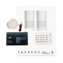 Paradox MG5050 PMD2P Kit with Small Cabinet, K10H Keypad & Plug Pack