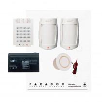 Paradox MG5050 PMD75 Kit with Small Cabinet, K10V Keypad & Plug Pack