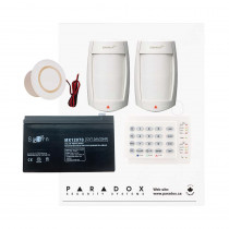 Paradox MG5050 PMD75 Kit with Small Cabinet, K10H Keypad & Plug Pack