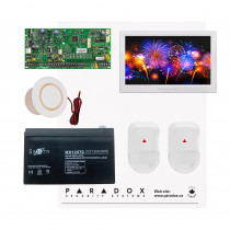 Paradox SP5500 NV Kit with Small Cabinet, 2x NV5 PIRs & White TM70