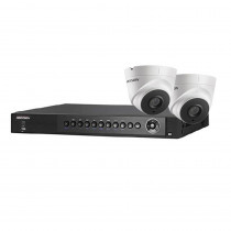 Hikvision 8 Channel Starter Kit - Includes 8CH TVI recorder with 2x 1080P Full HD TVI Turret Cameras