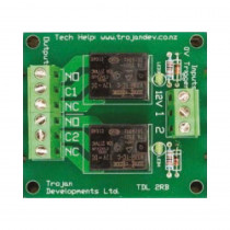 TDL 2RB 2 way single pole 8 amp relay board