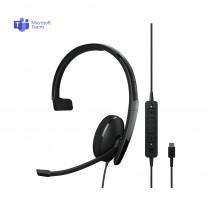 EPOS | Sennheiser ADAPT 130T USB-C II Monaural Headset - MS Teams