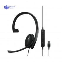 EPOS | Sennheiser ADAPT 130T USB II Monaural Headset - MS Teams