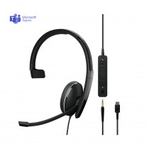 EPOS | Sennheiser ADAPT 135T USB-C II Monaural Headset - MS Teams & 3.5mm