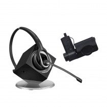 EPOS | Sennheiser DW Pro 1 MS Monaural Wireless DECT Office Headset with Base Station & HSL10 Lifter - Skype for Business