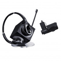 EPOS   Sennheiser DW Pro 2 MS Binaural Wireless DECT Office Headset with Base Station & HSL10 Lifter - Skype for Business