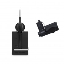 EPOS | Sennheiser IMPACT D 10 Wireless DECT Headset with Base Station & HSL10 Lifter - Deskphone only