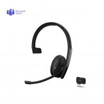 EPOS | Sennheiser ADAPT 231 Mono Bluetooth Headset + USB-C Dongle - MS Teams