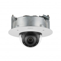Hanwha Wisenet P 4K AI Flush Dome Camera, H.265, 30fps, WDR, IR, IK10, 4.5-10mm