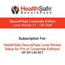 HealthSafe SecurePass Corporate Edition - Lone Worker - 51-100 Staff