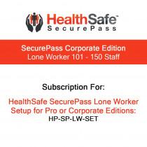 HealthSafe SecurePass Corporate Edition - Lone Worker - 101-150 Staff