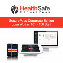 HealthSafe SecurePass Corporate Edition - Lone Worker - 101-150 Staff