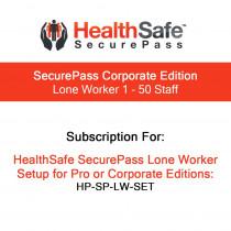 HealthSafe SecurePass Corporate Edition - Lone Worker - 1-50 Staff