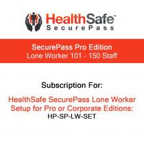 HealthSafe SecurePass Pro Edition - Lone Worker - 101-150 Staff