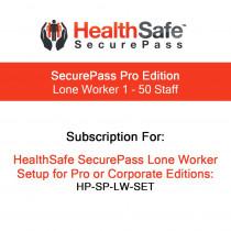 HealthSafe SecurePass Pro Edition - Lone Worker - 1-50 Staff