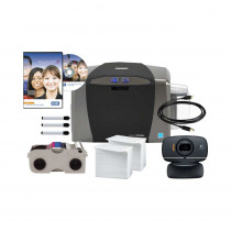 HID Fargo DTC1250e Single Card Printer Bundle