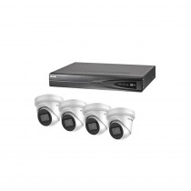 Hikvision 4 Channel Kit - Includes 4CH NVR recorder with 4x 6MP IP Turret Camera