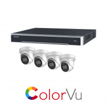 Hikvision 8 Channel ColorVu kit - with 4 x 4mm ColorVu Turrets