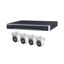 Hikvision 8 Channel Starter Kit - Includes 8CH NVR recorder with 4x 6MP IP Turret Camera