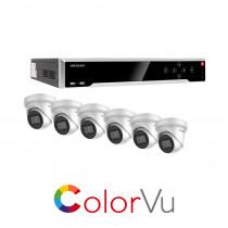 Hikvision 16 Channel ColorVu kit - with 6 x 4mm ColorVu Turrets