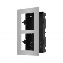 Hikvision DS-KD-ACF2/S Flush Mount Two Module Frame SS