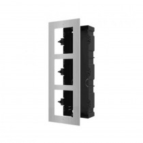 Hikvision DS-KD-ACF3/S Flush Mount Three Module Frame-SS